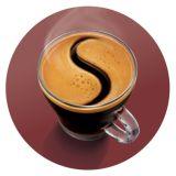 Deliciosa capa de espuma de café