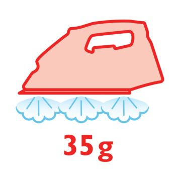 Постоянная подача пара до 35г/мин