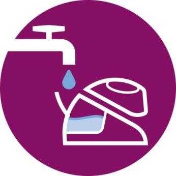 Возможность использования водопроводной воды; долив воды в любой момент глажения