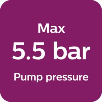 Max. Presiune pompa de 5.5 bari