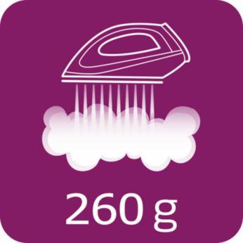 Jet de abur de până la 260 g