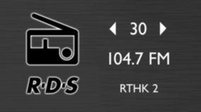 Radio FM con RDS y 30 presintonías