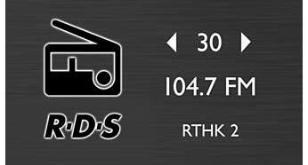 FM radio with RDS and 30 presets for more music options