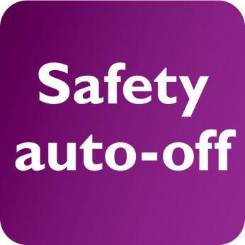 Se opreşte automat pentru a garanta siguranţa şi economia de energie