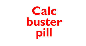 The calc pill breaks down calc so you can flush away easily