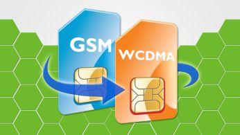 Modo dual (WCDMA y GSM), cobertura dual