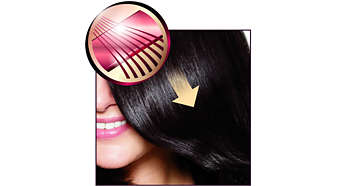 2x as smooth on your hair with SilkySmooth ceramic plates