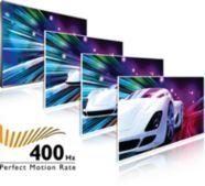 400 Hz Perfect Motion Rate (PMR) per un'estrema nitidezza del movimento
