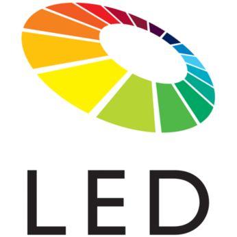 Tecnologia LED para cores naturais