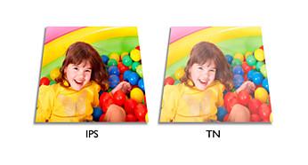 Tecnologia com visão ampla LED IPS para imagens e cores precisas