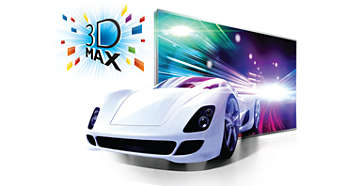 Active 3D Max-teknologi for å få en Full HD 3D-opplevelse