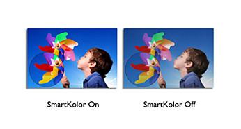 Recurso SmartKolor que oferece imagens vibrantes