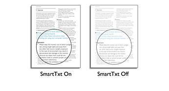 SmartTxt para a qualidade de leitura ideal
