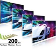 Mükemmel hareketli görüntü netliği için 200 Hz Perfect Motion Rate (PMR)