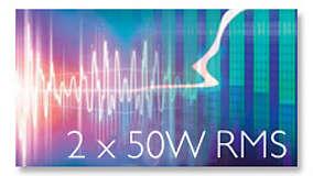 Общая вых. мощность 2x50 Вт (RMS)