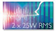 2x25W RMS total output power