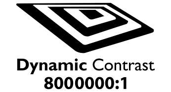 Dynamic contrast 8000.000:1 for incredible rich black detail