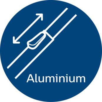 Удобство использования благодаря легкой алюминиевой трубке