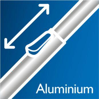 Lahka aluminijasta cev zagotavlja preprosto čiščenje