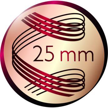 Doğal görünümlü bukleler için 25 mm çap