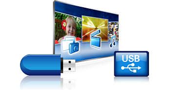 3 USB-spor for fantastisk multimedieavspilling