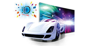 3D Clarity 400 for an exciting Full HD 3D experience