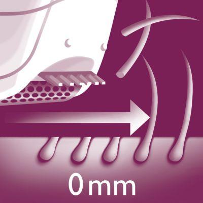 Бритвенная головка идеально повторяет контуры тела и делает бритье комфортным.