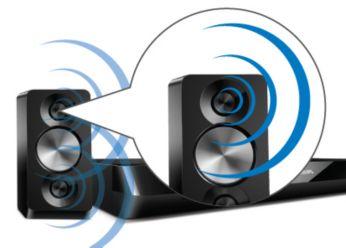 Altavoces potentes con doble sistema de graves para un sonido increíble