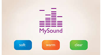 MySound profiles to match your sound preference