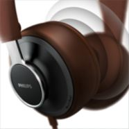Finely tuned 40mm drivers deliver clear and natural sound