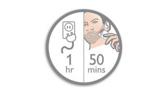 1 saatlik şarjla 50 dakika kablosuz kullanım