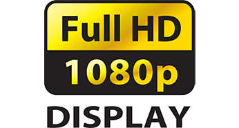 Full 1080p HD display, with a 1920x1080p resolution