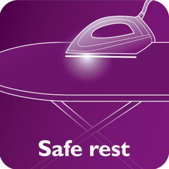 Talpa fierbinte poate fi lăsată în siguranţă pe masa de călcat