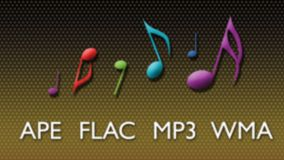 APE, FLAC, MP3 and WMA support