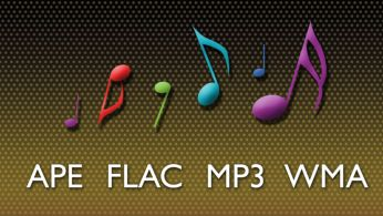 Codecs APE, FLAC, MP3 e WMA sem perdas para um som preciso