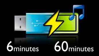 Greitas 6 minučių įkrovimas leis 60 minučių klausytis muzikos