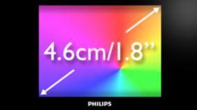 """Полноцветный экран с диагональю 4,6см/1,8"""""""