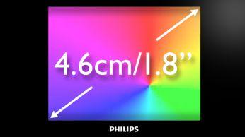 """Ecran complet color de 4,6 cm/1,8"""" pentru navigare uşoară, intuitivă"""