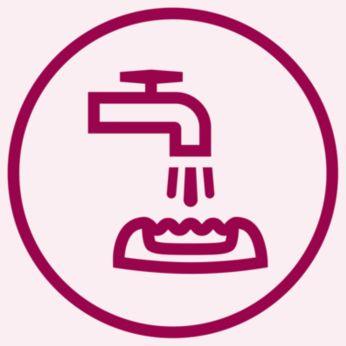 Ekstra hijyen ve kolay temizleme için yıkanabilir epilasyon başlığı