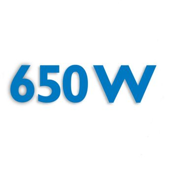 650 Watt motor for powerful processing
