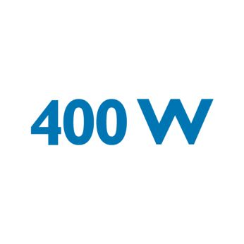 Strong 400-W motor