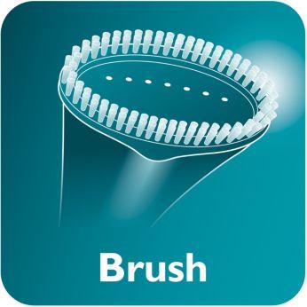 accessoire de brosse pour une finition lisse