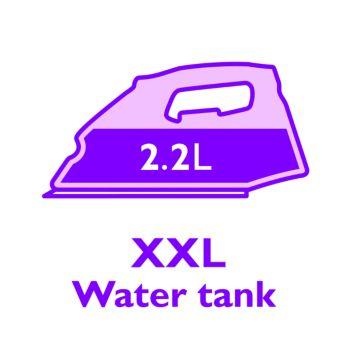 Большой полностью прозрачный резервуар для воды 2,2л