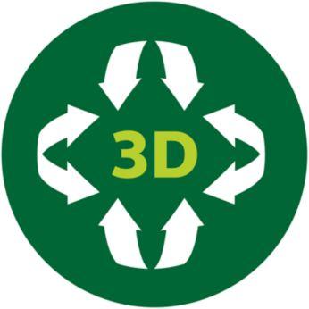 Распределение тепла по технологии 3D обеспечивает равномерный нагрев и более эффективное поддержание температуры