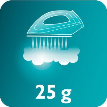 Эффективное разглаживание складок благодаря постоянной подаче пара 25г/мин