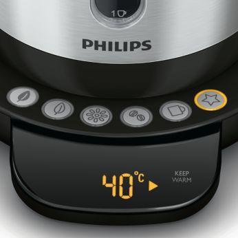 4запрограммированных кнопки для выбора горячего напитка