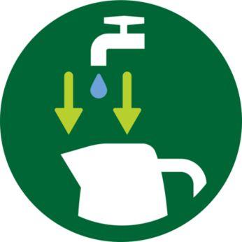 เติมน้ำทางปากพวยและฝาปิดได้ง่าย