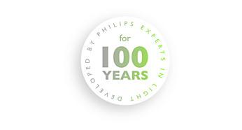 Von Philips entwickelt – seit über 100 Jahren Experte im Bereich Beleuchtung.