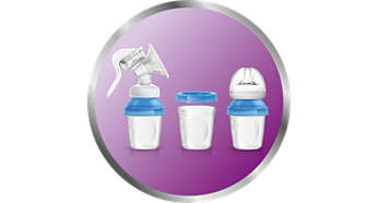 Includes 3 versatile milk storage cups