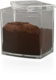 Ground coffee container with anti-static feature